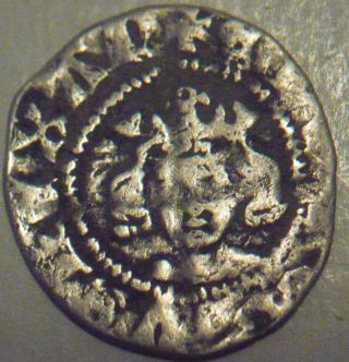 1327 - 1377 England Edward Iii Hammered Silver 1/2 Half Penny - London photo