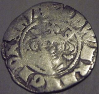 1307 - 1327 England Edward 2nd Hammered Silver Penny - Canterbury photo