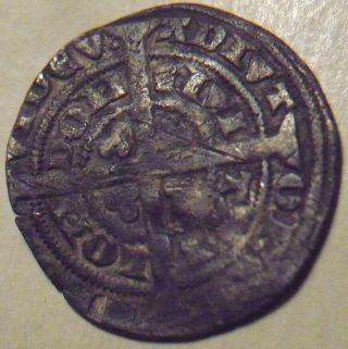 1351 - 1352 England Edward Iii Hammered Silver Half 1/2 Groat - Pre - Treaty photo