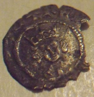 1434 - 1445 England Henry 6th Hammered Silver 1/2 Half Penny - Leaf Issue - London photo