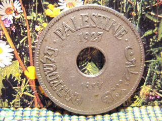 Palestine 1927 - 10 Mils Coppernickel Coin