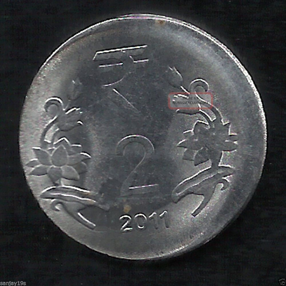 India Massive Die Shift Print Error 2011 Coin Rs  2 Rupees