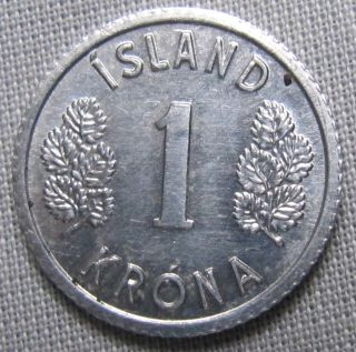 Iceland 1977 - 1 Krona photo