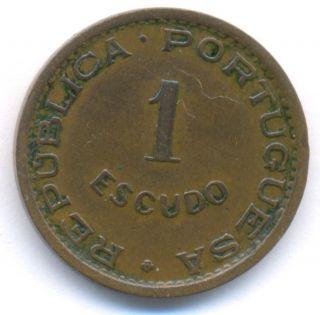 Angola 1 Escudo1963 Xf+ Km 76 Portuguese Colony photo