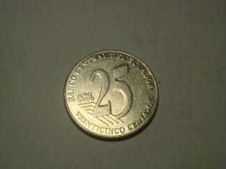 Ecuador 2000,  Twenty - Five Centavos.  Obverse Jose Joaquin De Olmedo photo