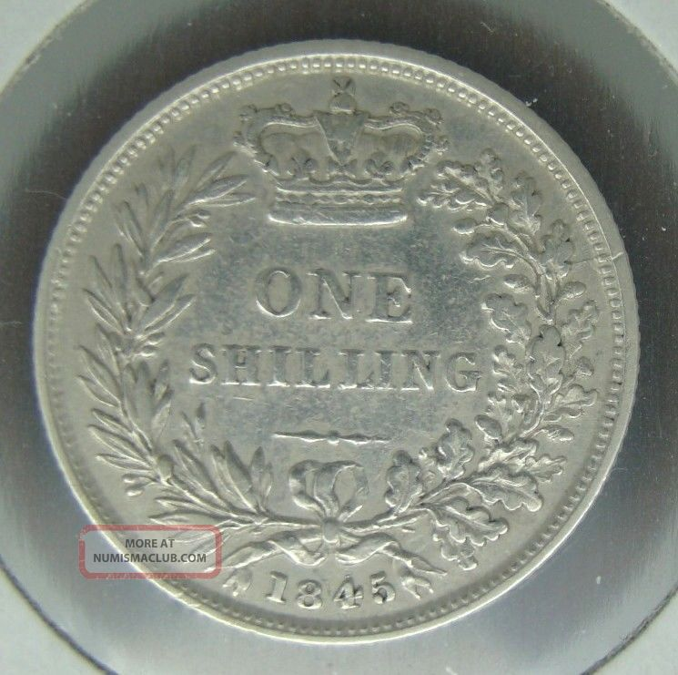 Extremely Rare Unrecorded 1845 British One Shilling