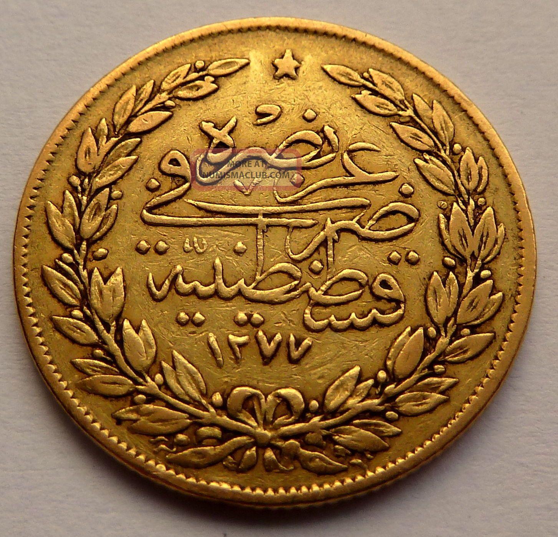 Turkey Ottoman Empire 100 Kurush 1277 1 1861 7 2g 0