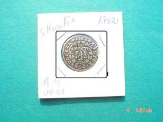 Angola - 2 Macutas 1762 Silver Coin D.  JosÉ - Very Rare photo