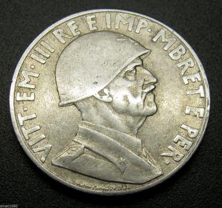 Albania 1 Lek Coin 1939 R Km 31 Italian Occupation Vittorio Iii (d3) photo