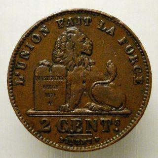 1912 Belgium 2 Cents photo