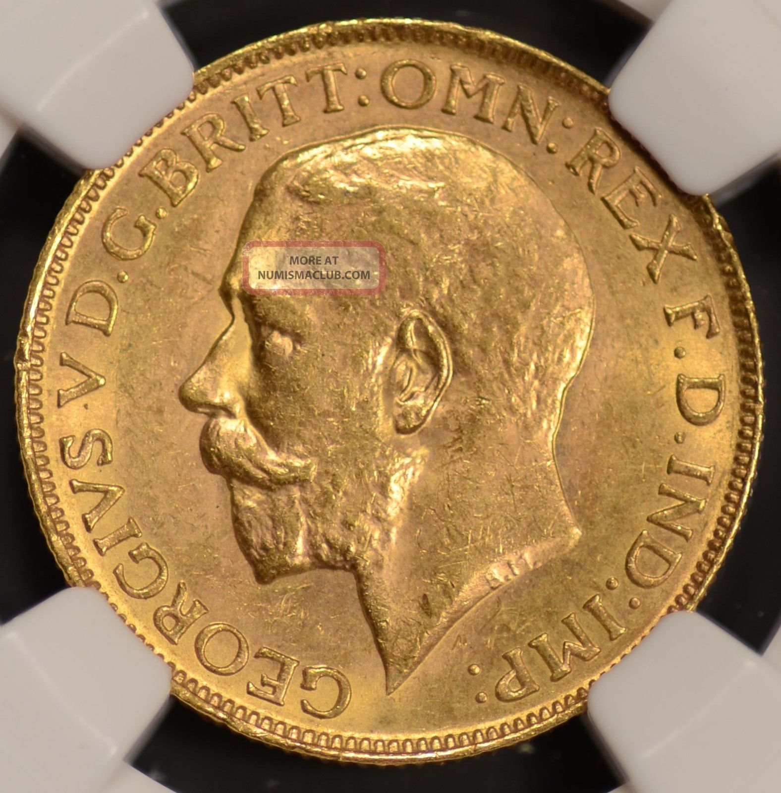 1920 P Australia Sovereign Gold Coin Perth Mark Ngc Ms63