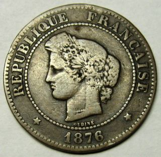 France 5 Centimes Coin 1876 A Km 821.  1 photo