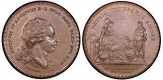 Sweden Gustav Iv Adolf 1792 Bronze Medal Pcgs Ms64 State photo
