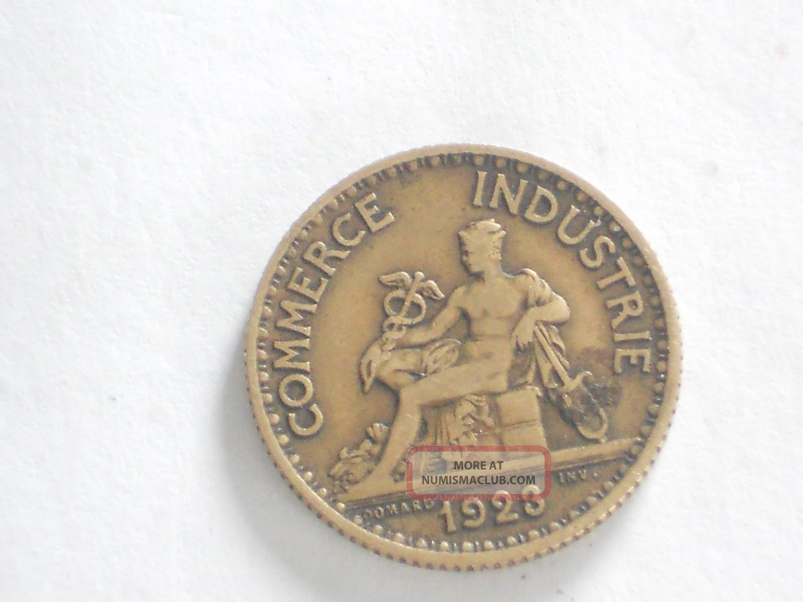 1923 1 bon pour franc chambres de commerce de france