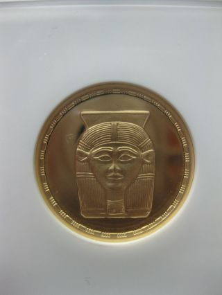 Egypt 1993 Amulet Of Hathor 50p Gold Ngc Pf69 photo