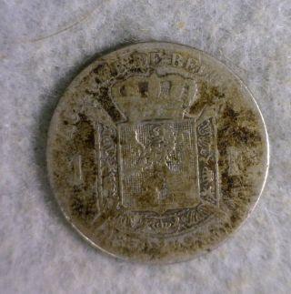 Belgium 1 Franc 1880 Silver (cyber 228) photo