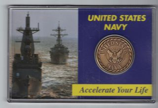 U.  S.  Navy Token In Hard Plastic Case - Accelerate Your Life photo