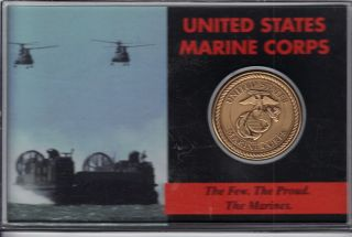 U.  S.  Marine Corps Token In Hard Plastic Case - The Few,  The Proud,  The Marines photo