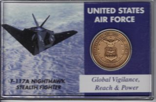 U.  S.  Air Force Token In Hard Plastic Case - Global Vigilance,  Reach & Power photo