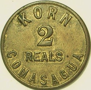 El Salvador Nd (c - 1895) Korn 2 Reales / Comasagua Token photo