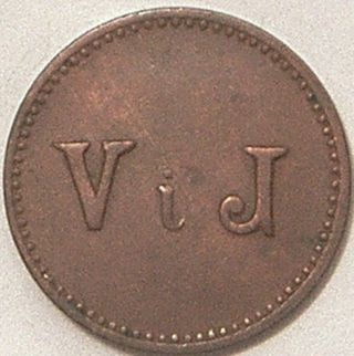 Guatemala Nd (c - 1890) Las Mercedes V I J Token photo