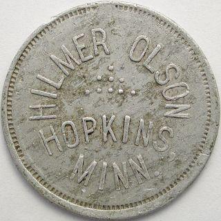 Hilmer Olson,  Hopkins,  Minnesota,  2 1/2 Cent Token photo