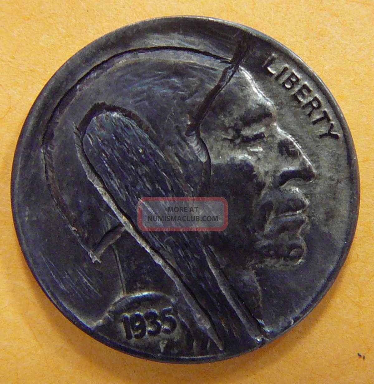 1935,  Buffalo Indian Head Hobo Nickel