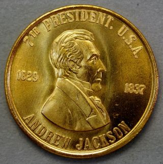 Andrew Jackson 7th President Of The U.  S.  A.  Brass Collectors Token. . .  10611 photo