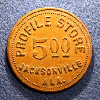 R10 Alabama Cotton Mill Token - Profile Store,  $5.  00,  Jacksonville,  Ala. photo