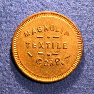 R10 Louisiana Cotton Mill Token - Magnolia Textile Corp. ,  5¢,  Orleans,  La. photo