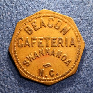 Rare North Carolina Token - Beacon Cafeteria,  25¢,  Swannanoa,  N.  C. photo