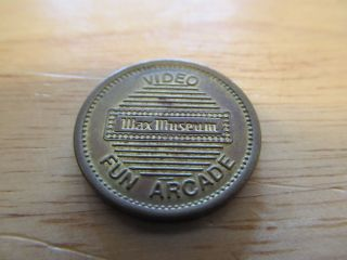 Wax Museum Video Fun Arcade Rare Game Token Tj2 photo