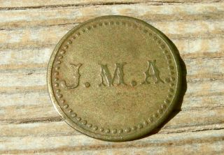 Old Anton Chico Nm Mexico (guadalupe Co) Jm Abercrombie - Store Saloon Token photo