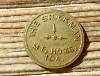 1900s Mountain Home Idaho Id.  (elmore Co) Old Brass