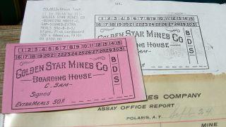1910 Polaris At Arizona Terr Ghost Town Yuma Co Mine Boarding House Scrip Token photo