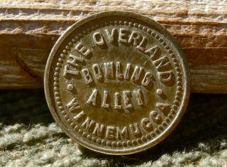 1900s Winnemucca Nevada Nv (humboldt Co) Overland Bowling Alley Token,  Scarce photo