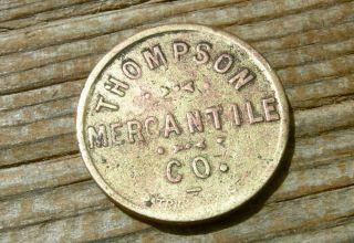 1900s Thompson Nv Nevada (2 Token Ghost Town,  Lyon Co) Old Brass Trade Token photo