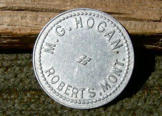 1900 Roberts Mt Montana (tiny,  Carbon Co,  Nr Wy) Scarce