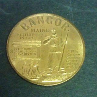 Maine Bangor Me Token/challenge Coin Bangor Jaycees Success Paul Bunyan photo