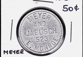 Uncataloged Meyer & Jabusch Chicago,  Illinois 50 Cents Merchant Token photo