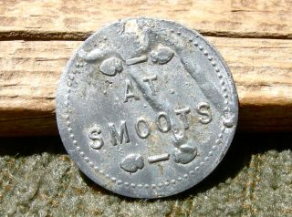 1900s Carson City Nv Nevada Charles Smoot Bakery Bread Token,  Scarce R - 9 photo