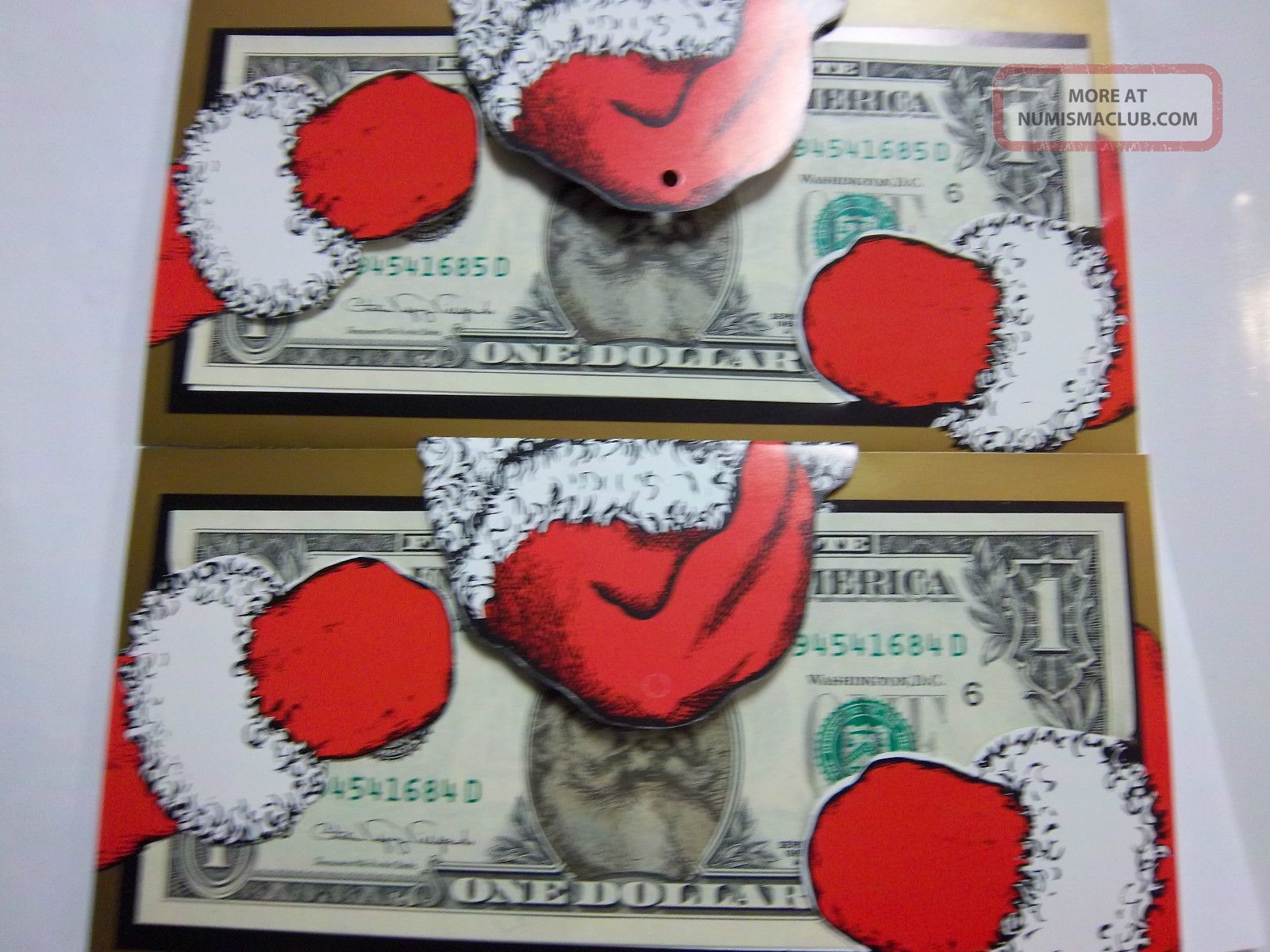 Coinhunters - Paper Dollar Bill W/photo Of Santa Unc Paper Money: US photo