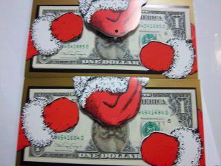 Coinhunters - Paper Dollar Bill W/photo Of Santa Unc photo