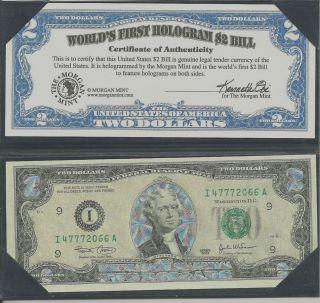 Worlds ' S First Hologran $2 Bill photo