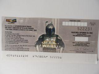 Star Wars Episode Ii Jango Fett Movie Cash Expired Vintage Rare Us photo