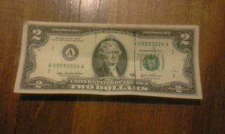 Authentic Rare 2$ Bill photo