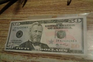 2006 - 50 - Dollar Bill - Rare - Repeter - Sereal 41414146 - Fresh - Cresp Bill photo