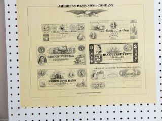 American Banknote Co.  - Plate Reprint Of Antebellum Currency Cond. photo