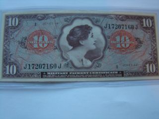 Mpc $10 Series 641 Uncirculated In Vietnam 1965 - 1968 photo