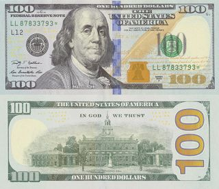 2013 2009a $100 One Hundred Dollars Star Note Larger Size Copy Replica photo